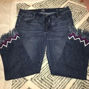 Super comfy trendy fringe jeans (size 12)
